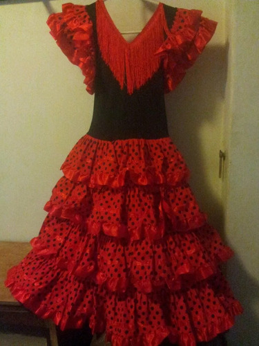vestido español flamenco niña