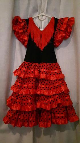 vestido español flamenco niña t6 (leve falla)