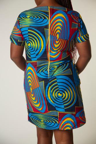 vestido estampa afro elegante
