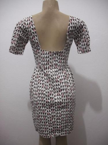 vestido estampa geometrica tam p tipo retro vintage ormont