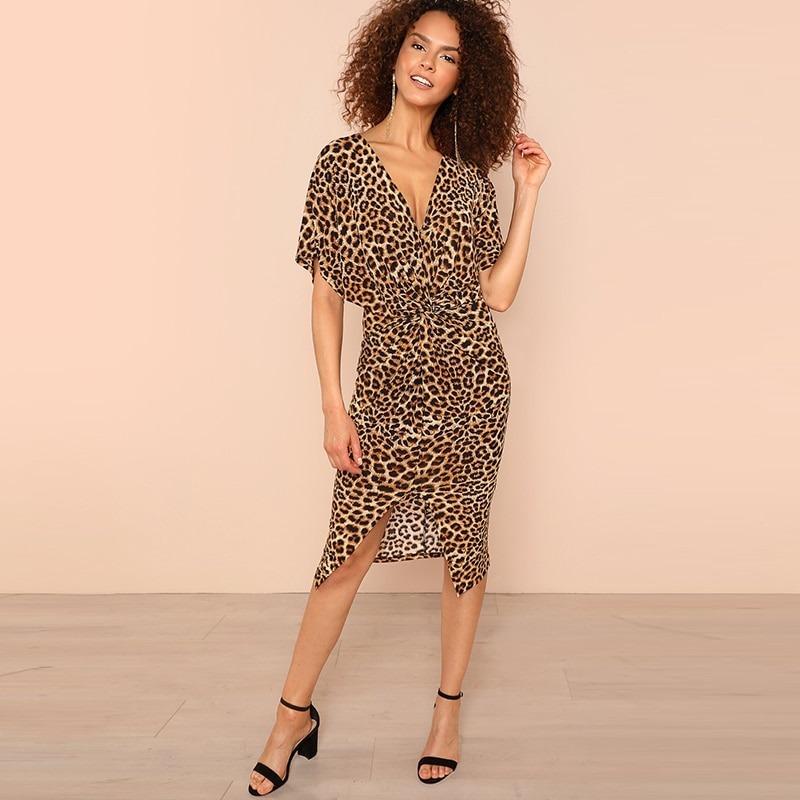 5e1382e77d vestido estampado animal print midi leopardo oncinha. Carregando zoom.