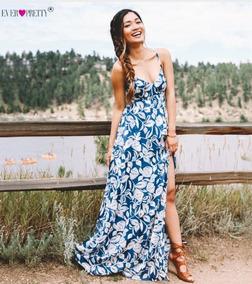 62fad158ac Vestido Longo Floral Importado - Vestidos Longos Femininas no Mercado Livre  Brasil