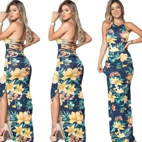eaf88a5c12 Vestido Longo Aberto Perna - Vestidos Casuais Longos Femininas no Mercado  Livre Brasil