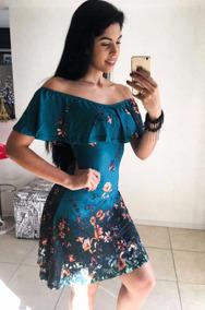 6594a55de Vestido Hering Curto Estampado Azul - Vestidos Femininas em Caieiras ...