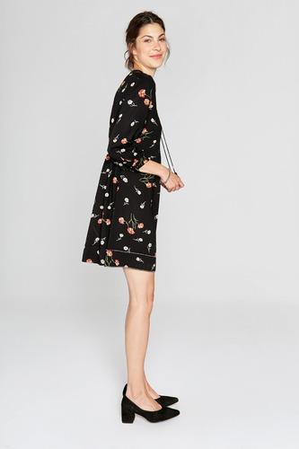 vestido estampado con bordado a mano yagmour