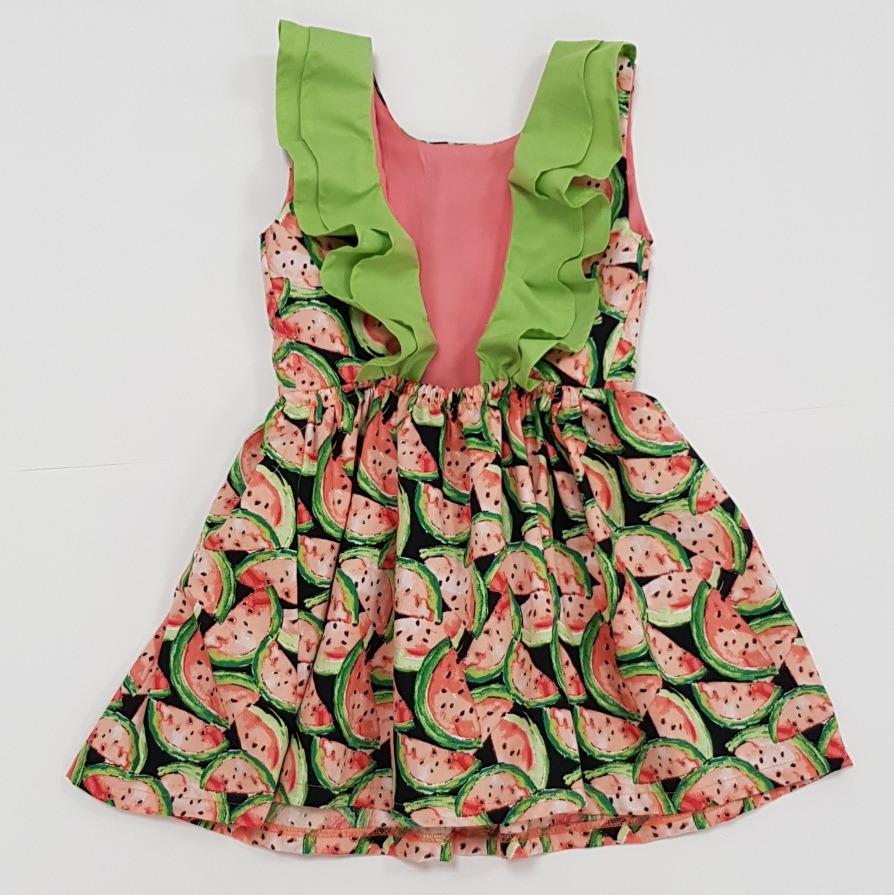 da2f5d1fcc Vestido Estampado De Sandias. Moda Para Niñas. -   439.99 en Mercado ...