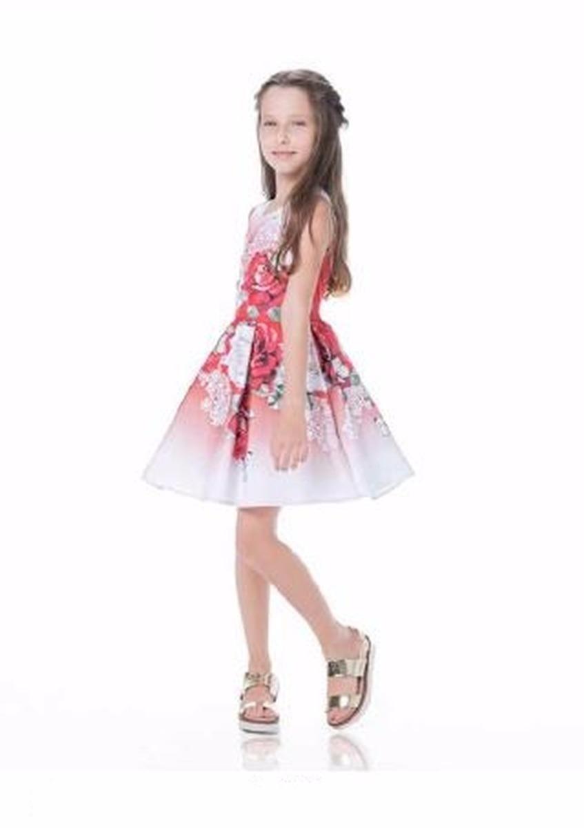 cdbab9d785 vestido estampado festa criança infantil gabriela aquarela. Carregando zoom.