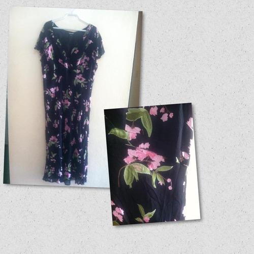 vestido estampado floral avenue  talla 18