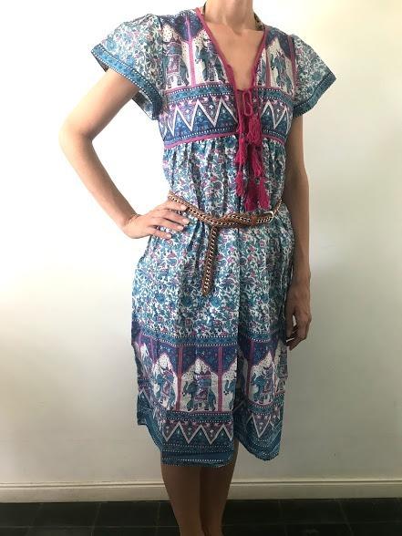 Vestidos estampado hindu