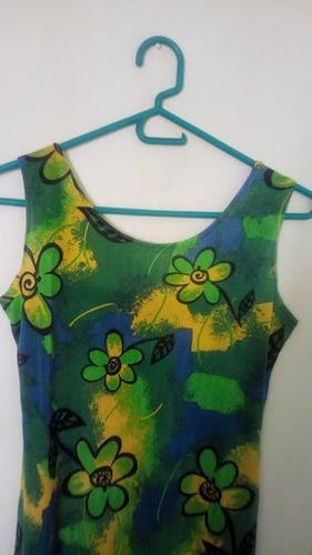 vestido estampado largo playero motivo floral