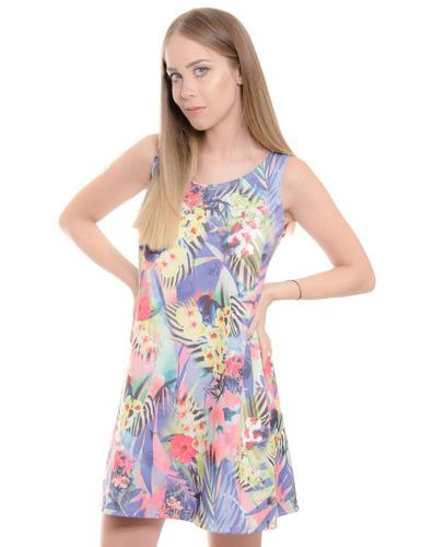 vestido estampado suelto