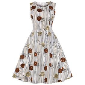 5408efc60 Vestido Estilo Pinup Retro Falda Acampanada Para Mujer