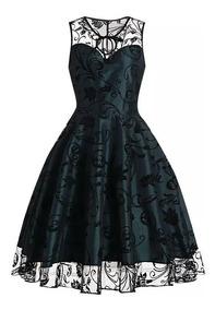 gama completa de especificaciones grandes ofertas en moda imágenes detalladas Vestido Estilo Vintage, Retro. Fiesta, Egresos, Noche