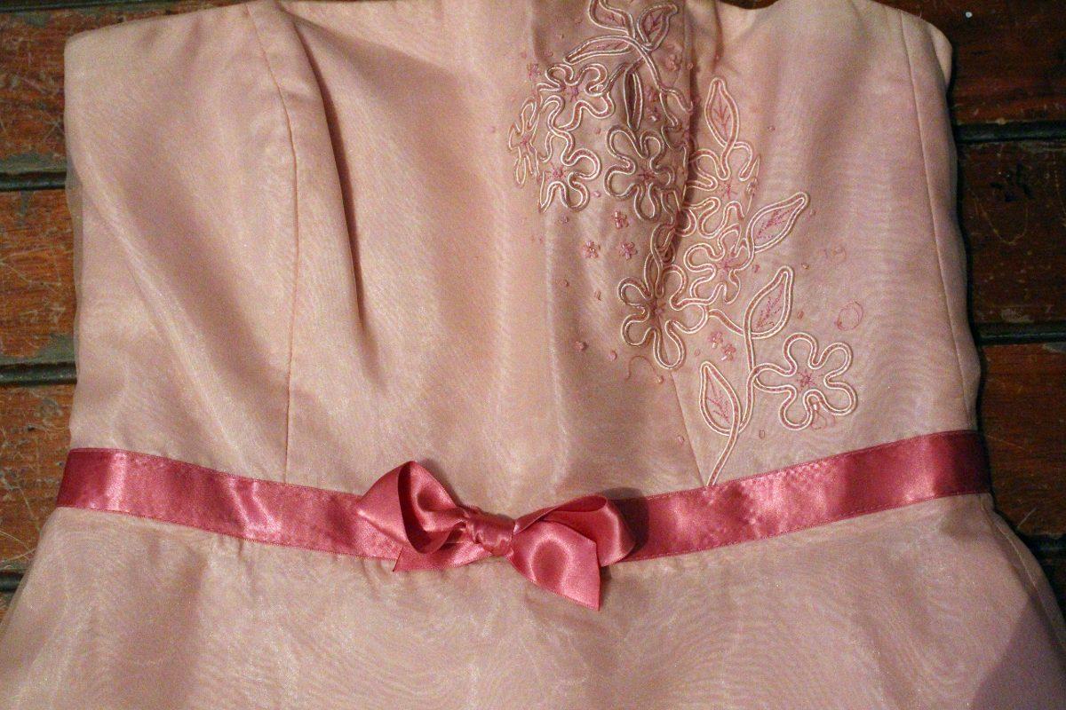 Vestido Estraples David Bridal Color Salmon Bordado - $ 400.00 en ...