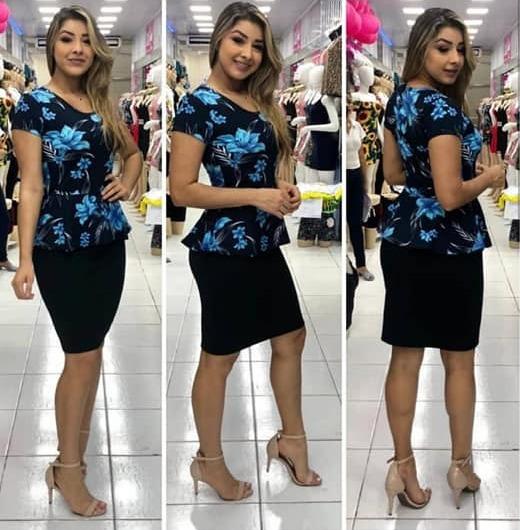 f03699b25c Vestido Evangelico Barato Moda Jovem Roupas Femininas - R$ 65,99 em ...