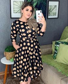 30619726e35c Vestido Com Mangas 7/8 - Vestidos Femeninos com o Melhores Preços no ...