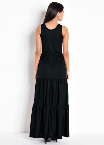 vestido evangelico longo estampado sem manga blogueira