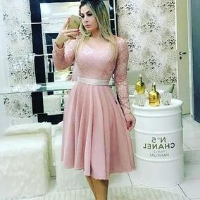 f648d7959 Vestido Moda Evangelica Jovem - Vestidos Casuais Médios Femininas no  Mercado Livre Brasil
