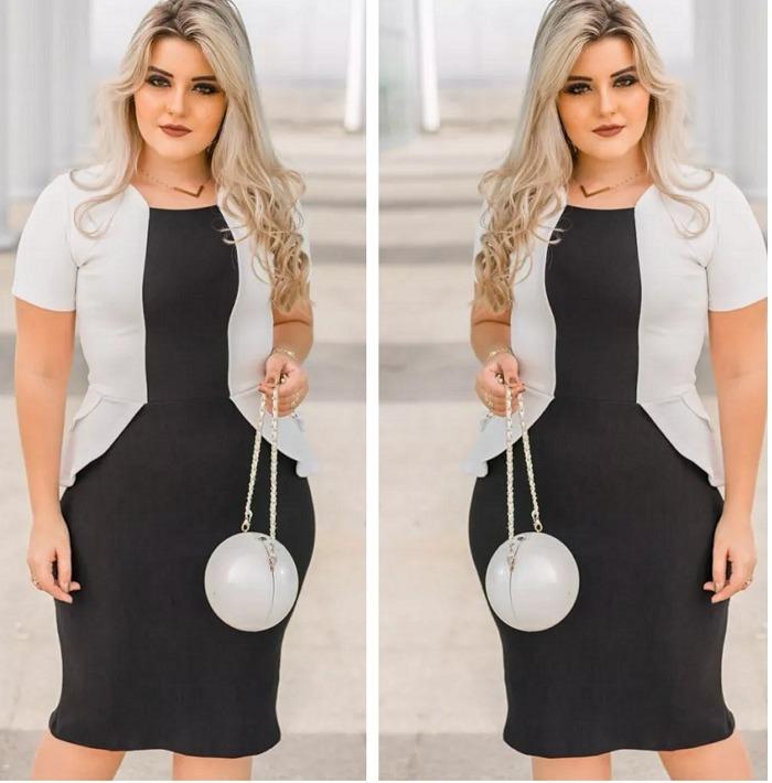 dfdcc8e03f Vestido Evangelico Social Roupas Femininas Moda Jovem - R$ 89,99 em ...