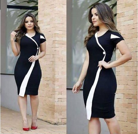 vestido  evangelico tubinho social roupas femininas novidade