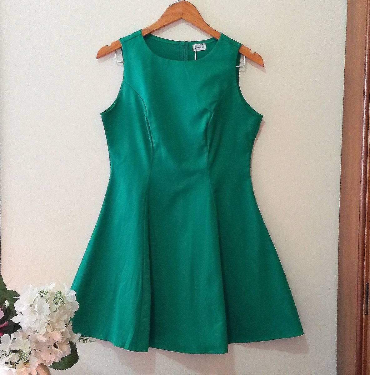 d715842bc2 vestido evasê verde curto feminino casual festa balada. Carregando zoom.