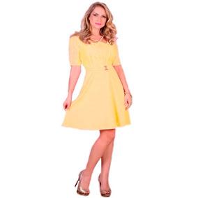 0ee630338 Vestido Evase Moda Cristã Comprimento Midi Social Evangelico
