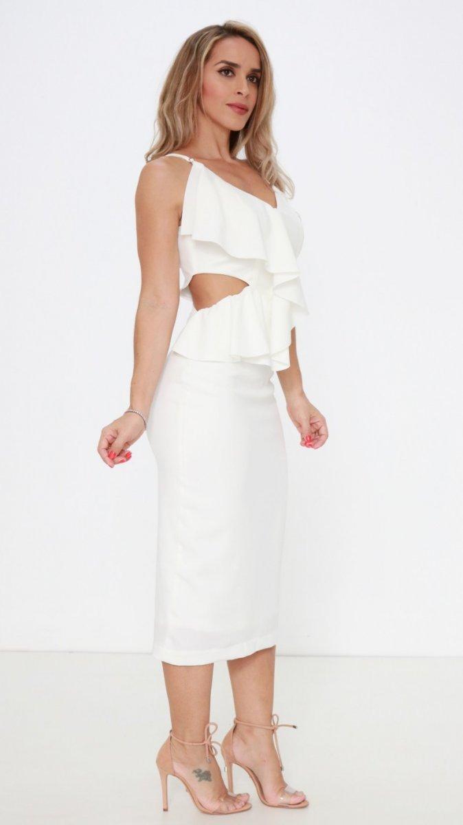 d3f80f839 vestido exclusiva off white assimetrico pv19. Carregando zoom.