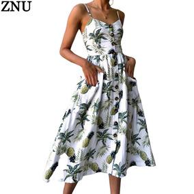 542d0d193 Vestido Estampado Falda Larga Playa Para Mujer - Ropa, Bolsas y ...
