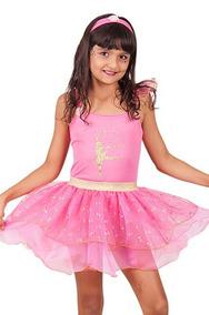 6414012f52 Vestido Festa Infantil Bailarina Rosa Chique - Brinquedos e Hobbies ...