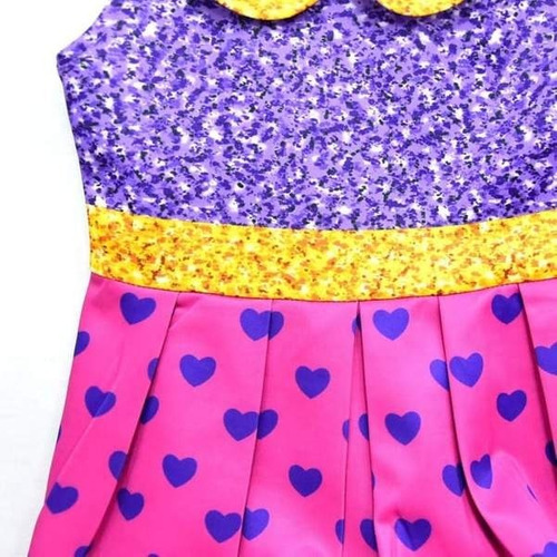 vestido fantasia festa infantil boneca lol glitter super bb