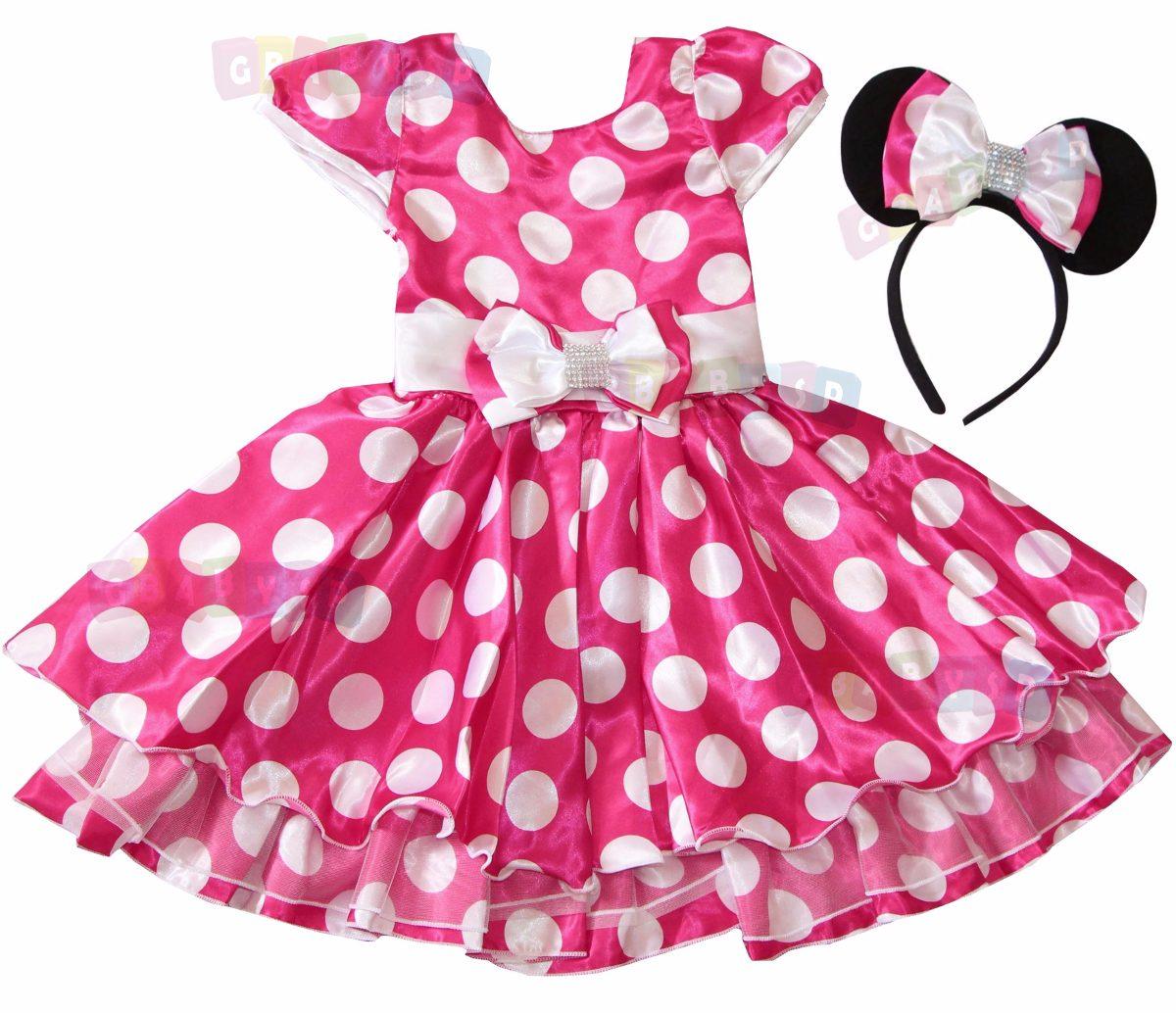 64b9c54f1e vestido fantasia festa minie rosa ou minnie vermelha + tiara. Carregando  zoom.