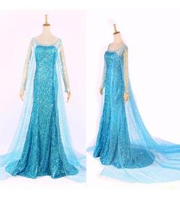 6678629d50d5f0 Vestido Fantasia Frozen Elsa Adulto Pronta Entrega Promoção
