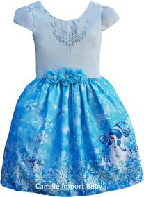 2a3f40e13 Fantasia Frozen Elsa Campinas - Vestidos Meninas no Mercado Livre Brasil