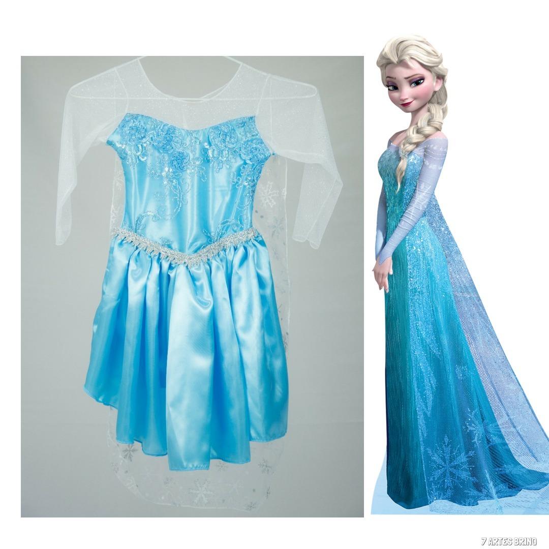 a42dabf4d vestido fantasia frozen festa infantil princesa elsa anna. Carregando zoom.