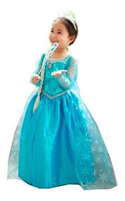 d740df52725eeb Vestido Fantasia Frozen Infantil Vestidos Elsa Princesa E23