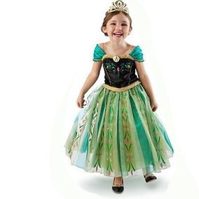 8b1e05c7bb Vestido Fantasia Infantil Frozen Princesa Anna