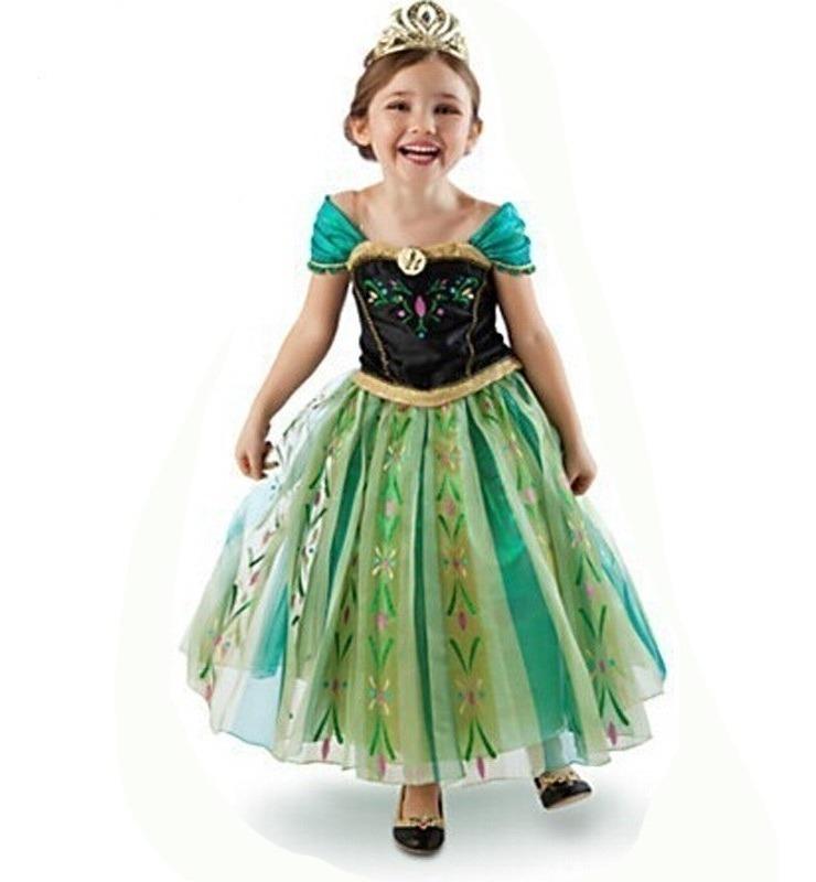 90429628762740 Vestido Fantasia Infantil Frozen Princesa Anna