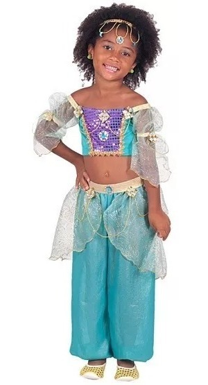 34b42400e6 vestido fantasia odalisca infantil carnaval princesa jasmine