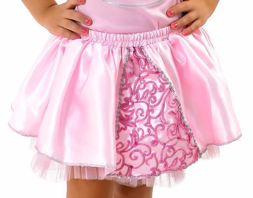 vestido fantasia tutu princesa aurora infantil luxo