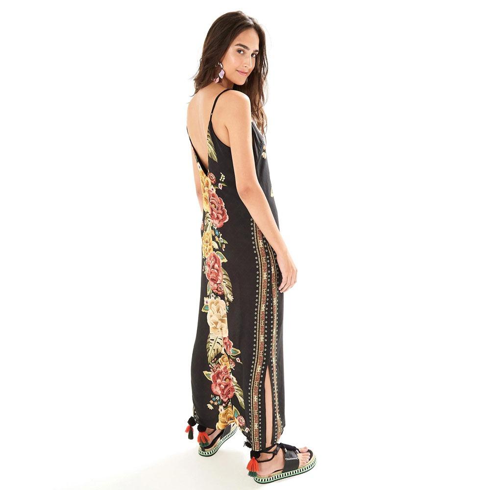 536c00edc vestido farm longo chita artesanal. Carregando zoom.