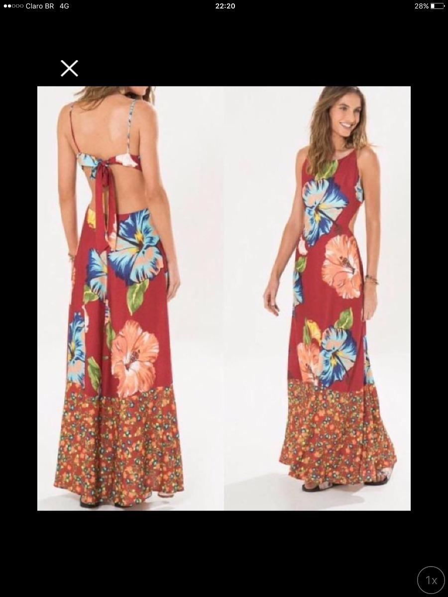 4b3fee0078 vestido farm longo kauai tamanho p. Carregando zoom.