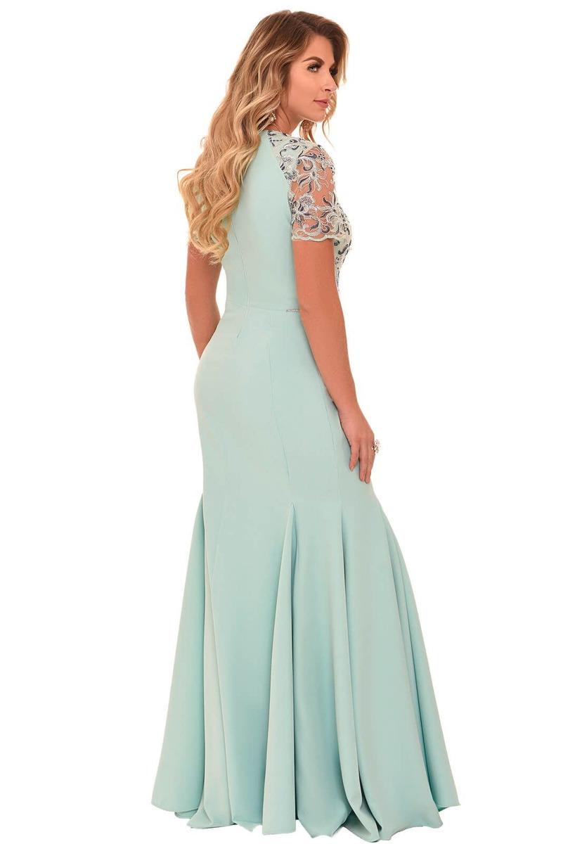909604ba3a vestido fascinius caline verde moda evangélica. Carregando zoom.