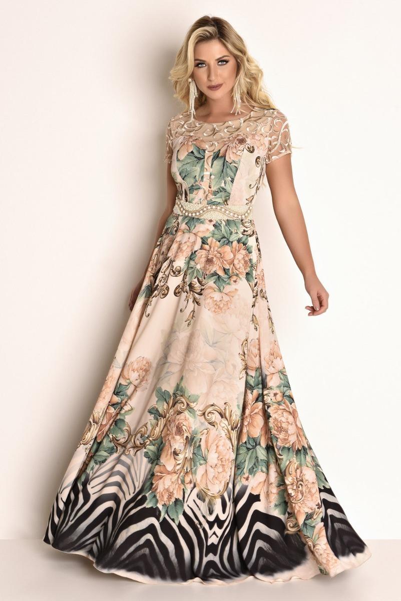 8eb7696d3e vestido fascinius tule bordado fio lurex moda evangélica. Carregando zoom.