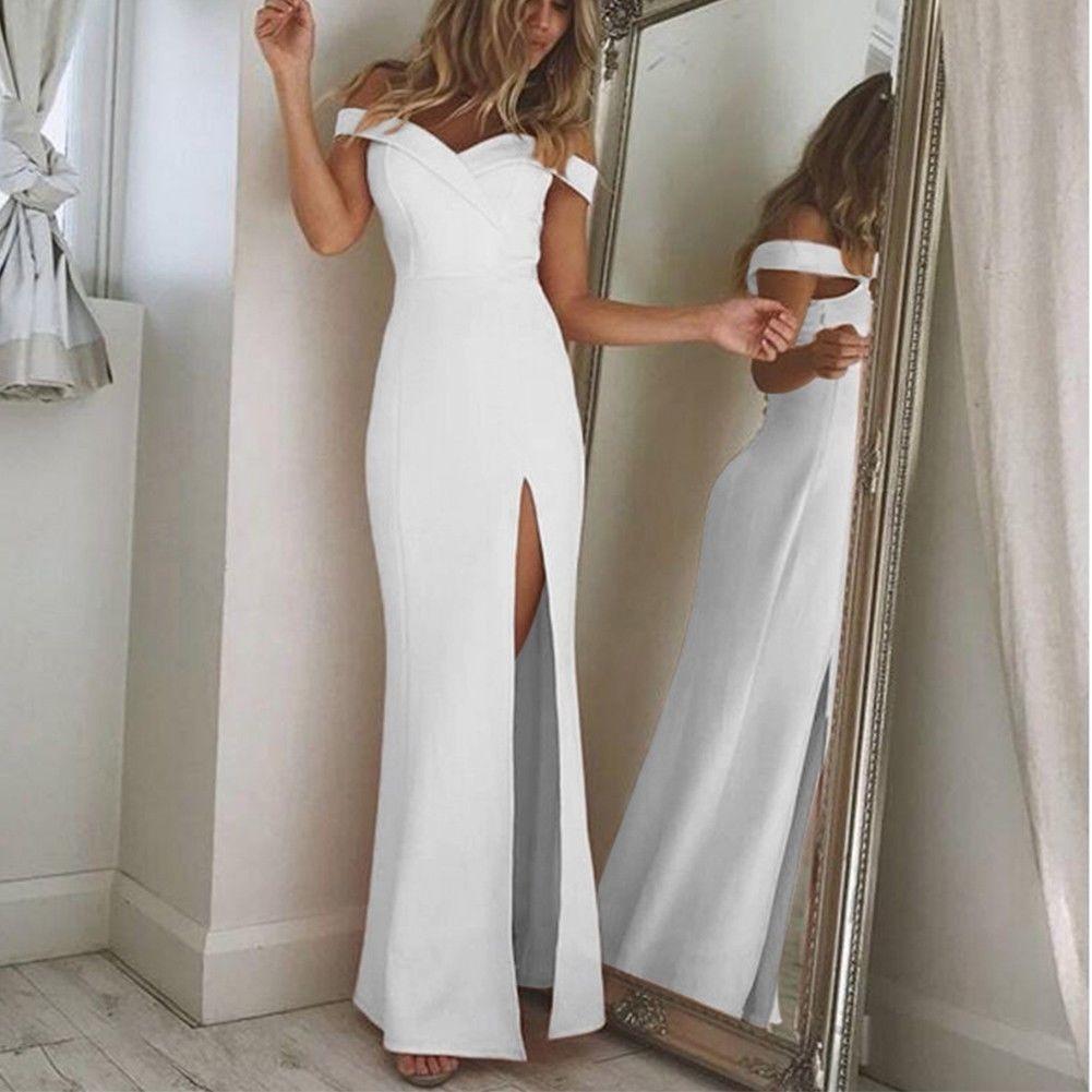 Vestido blanco largo fiesta mercadolibre