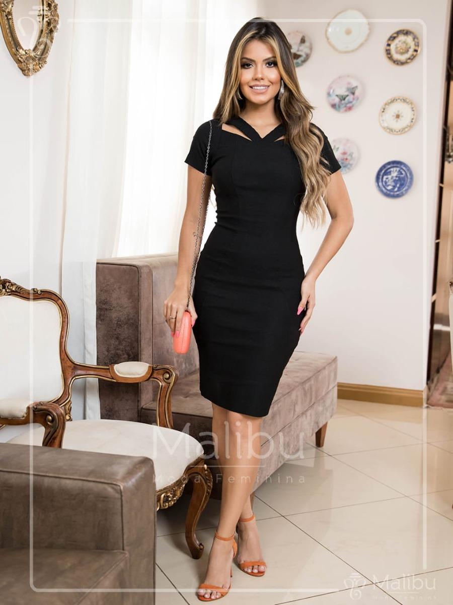 16d36bc032 vestido felipa tubinho preto moda evangélica. Carregando zoom.