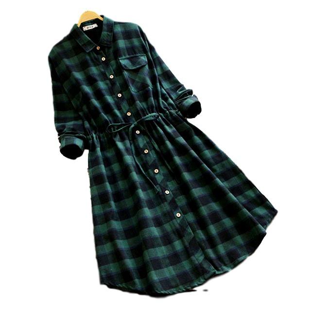 da23fb756 Vestido Feminina Xadrez Laço Camisão Moda Chemise Ref  407 - R  69 ...