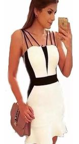 06b696831 Vestido 3d Bicolor Preto - Vestidos Femeninos Curto com o Melhores Preços  no Mercado Livre Brasil