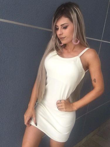 vestido feminino canelado com bojo moda verão 2018