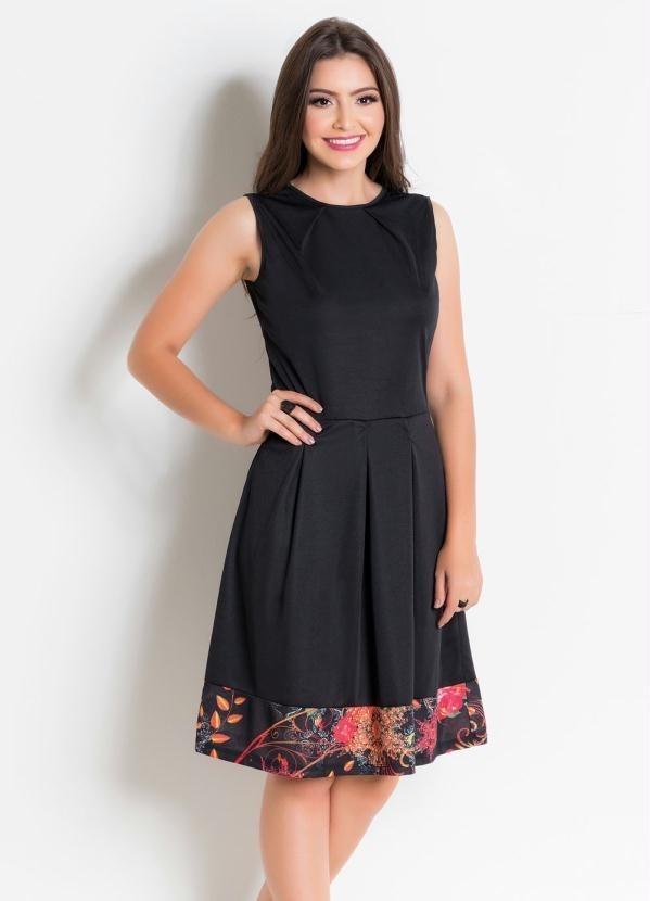 4106b97d3b vestido feminino com recorte preto moda evangélica. Carregando zoom.