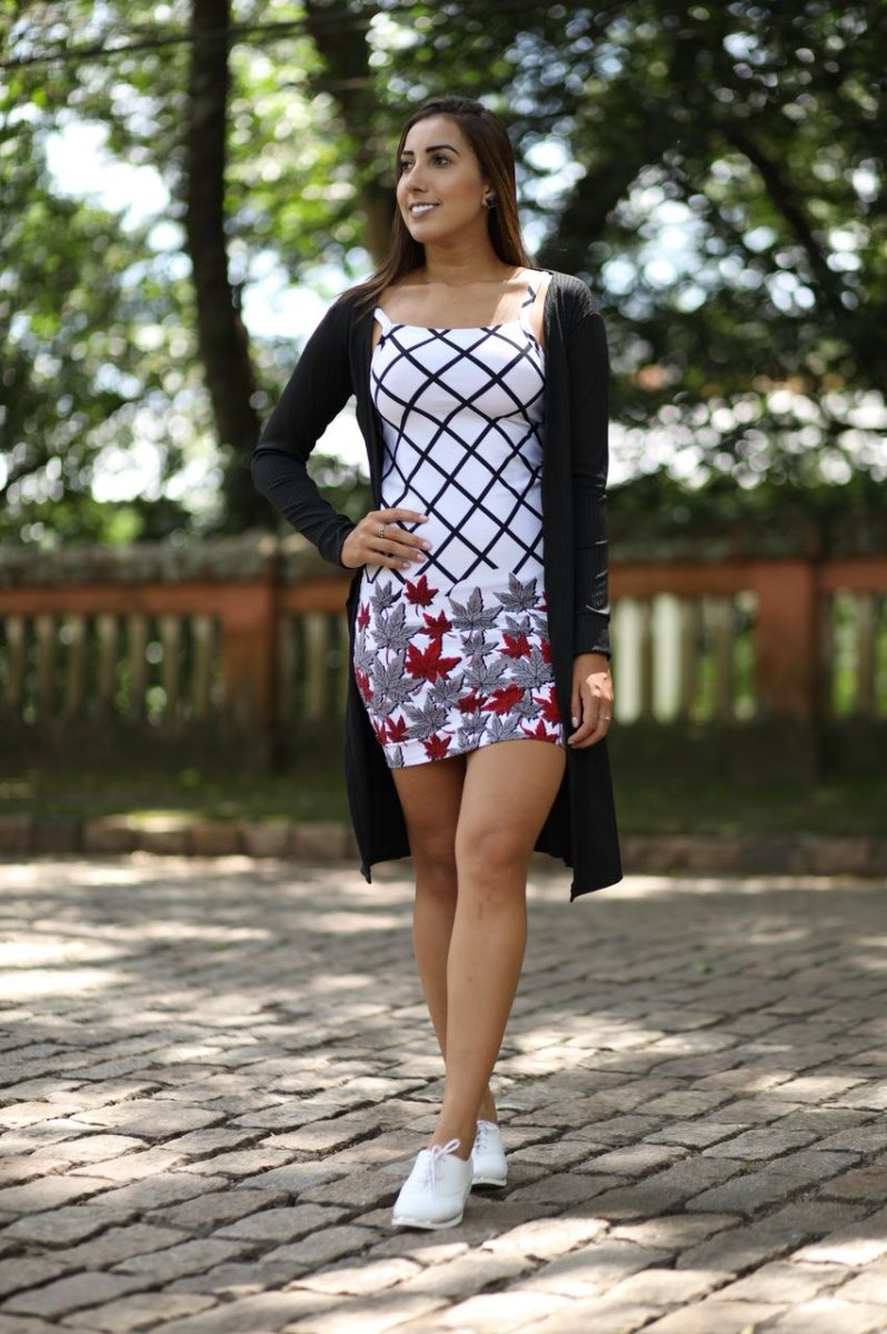 ef93252eb Kit Vestido + Cardigan Feminino Curto Floral Alça E Kimono - R  68 ...